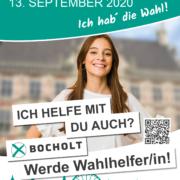 Plakat Wahlhelfer*in gesucht